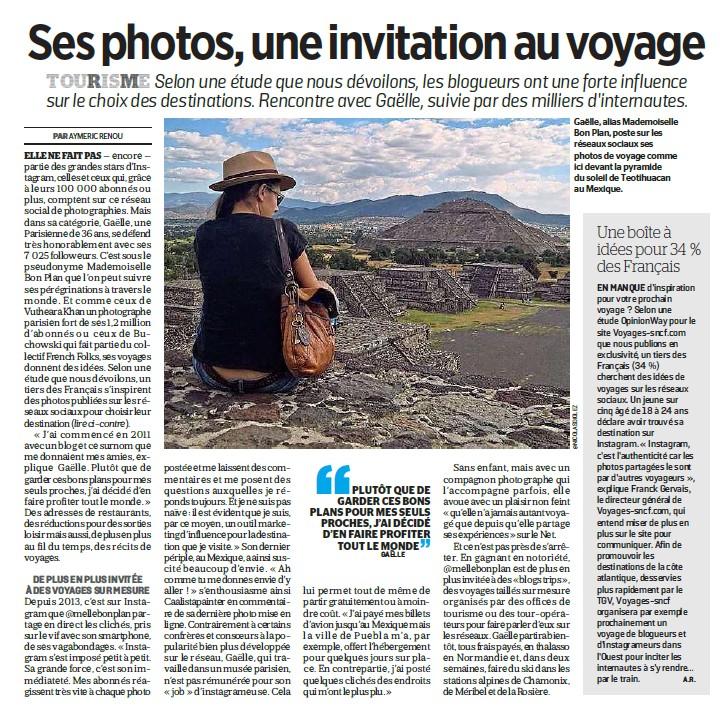 Article Le Parisien Melle Bon Plan 2017
