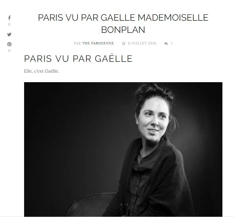 Interview the parisienne