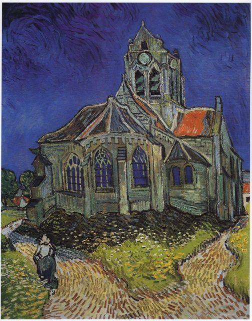 Église d'Auvers-sur-Oise - V. Van Gogh
