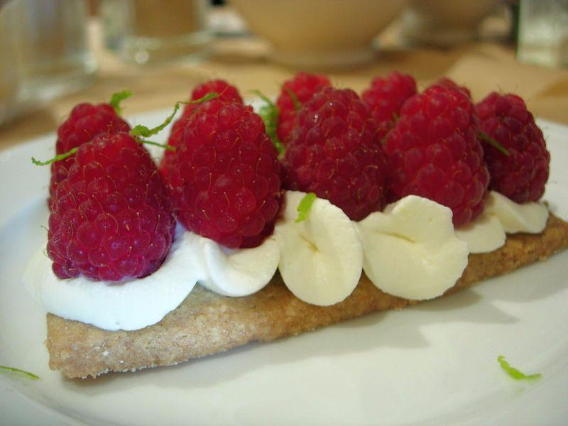 Tartelette aux framboises sans gluten Pain Quotidien - DR Melle Bon Plan