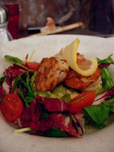 Salade mache et gambas poelées au citron La Rosa - DR Melle Bon Plan