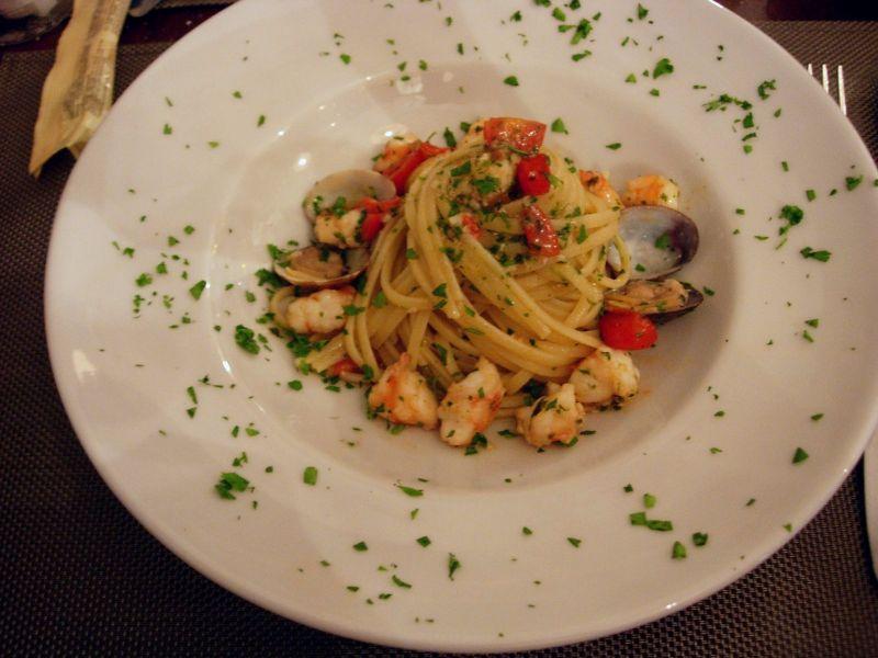 Linguine aux palourdes Restaurant La Rosa - DR Melle Bon Plan