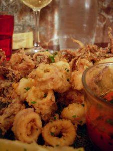 Calamars et crevettes frits Restaurant La Rosa - DR Melle Bon Plan