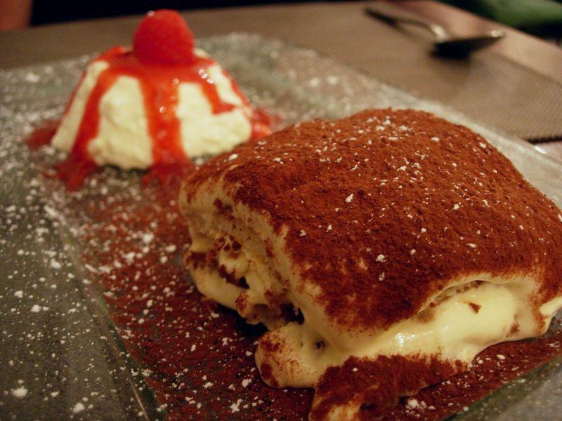 Tiramisu Panna Cotta Restaurant La Rosa - DR Melle Bon Plan