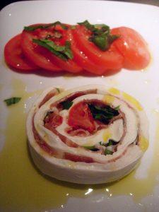 Rouleau de mozzarella au San Daniele Restaurant Al Dente - DR Melle Bon Plan
