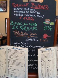 Formule burger Roy's Pub - DR Melle Bon Plan