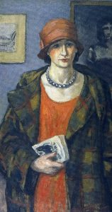 Albert André L'anglaise à la robe rouge, 1926 Huile sur toile 84,5 x 50 cm Collection Musée Albert André de Bagnols-sur-Cèze Droits réservés