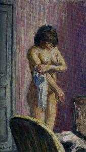 Albert André-Nu au fond mauve, Albert André, 1912, huile sur toile, Coll Muse¦üe Albert André de Bagnols-sur-Cèze, DR