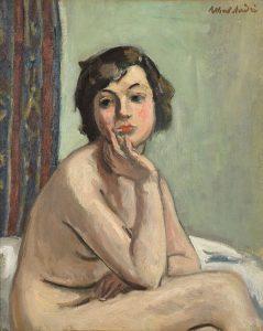 Albert André Torse de femme nue, 1935 Huile sur toile 54,8 x 46,2 cm Collection Musées de Montbéliard Dépôt du Musée d'Orsay Photo : Pierre Guenat