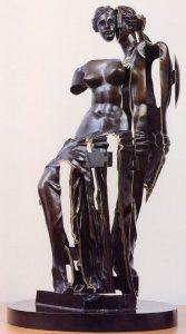Arman (sculpture), Jacopo Baboni Schilingi (musique) La Vénus à Gonds, 2000, Bronze 74x90 cm Ensemble de Musique Interactive