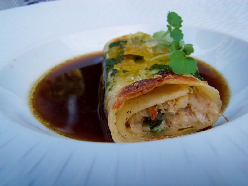 Crabe en cannelloni Restaurant Le Relais du Parc - DR Melle Bon Plan
