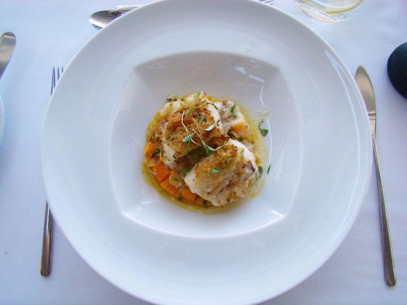 Morue avec citrouille et amandes Hôtel Farol Cascais Portugal - DR Melle Bon Plan