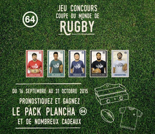 Marque 64 coupe du monde de rugby 2015