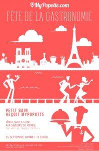MyPopotte s'installe au Petit Bain 25 septembre Fête de la Gastronomie