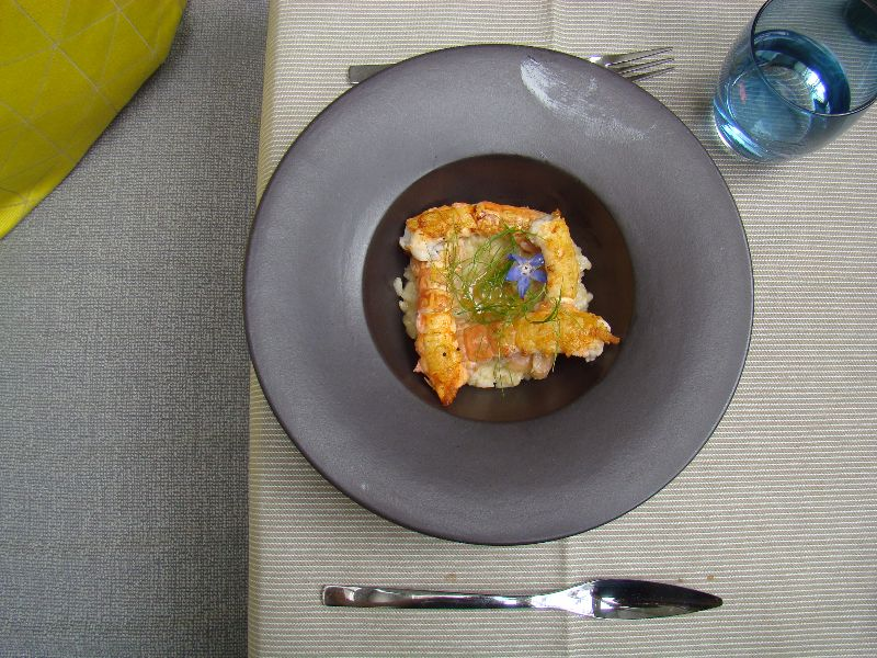 risotto de langoustines déjeuner Hôtel de Sers - DR Melle Bon Plan