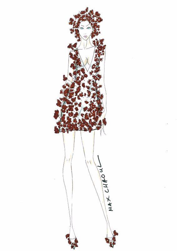 Robe Jean-Paul Hévin x Max Chaoul pour le salon du chocolat