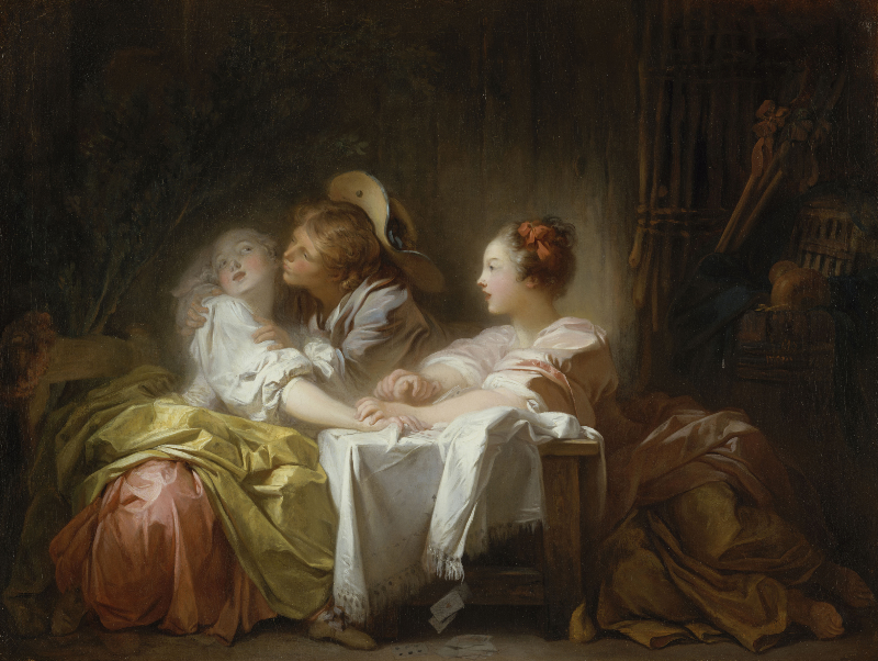 Le baiser volé Fragonard Jean-Honoré (1732-1806). Etats-Unis, New-York, The Metropolitan Museum of Art. 56.100.1.