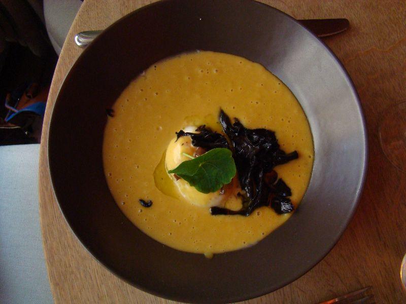 velouté de butternut Restaurant Le Vaisseau Vert Paris - DR Melle Bon Plan 2015