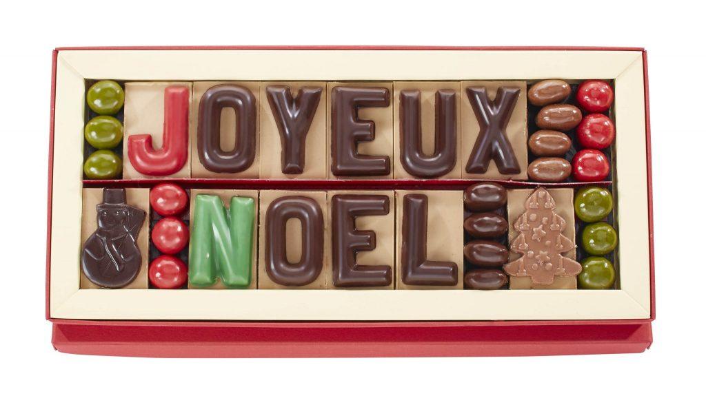 Boite message Joyeux noel Jadis et Gourmande