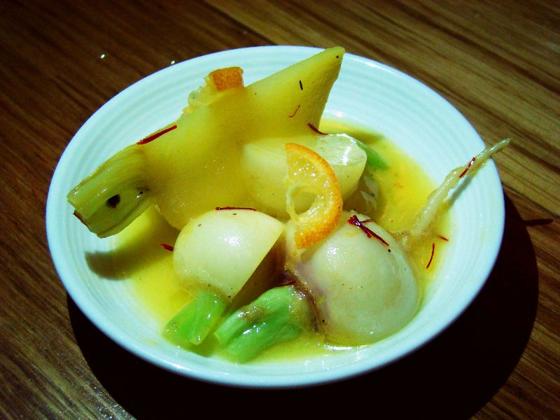 Navet, safran et kumquat Restaurant Claude Colliot - DR Melle Bon Plan 2015