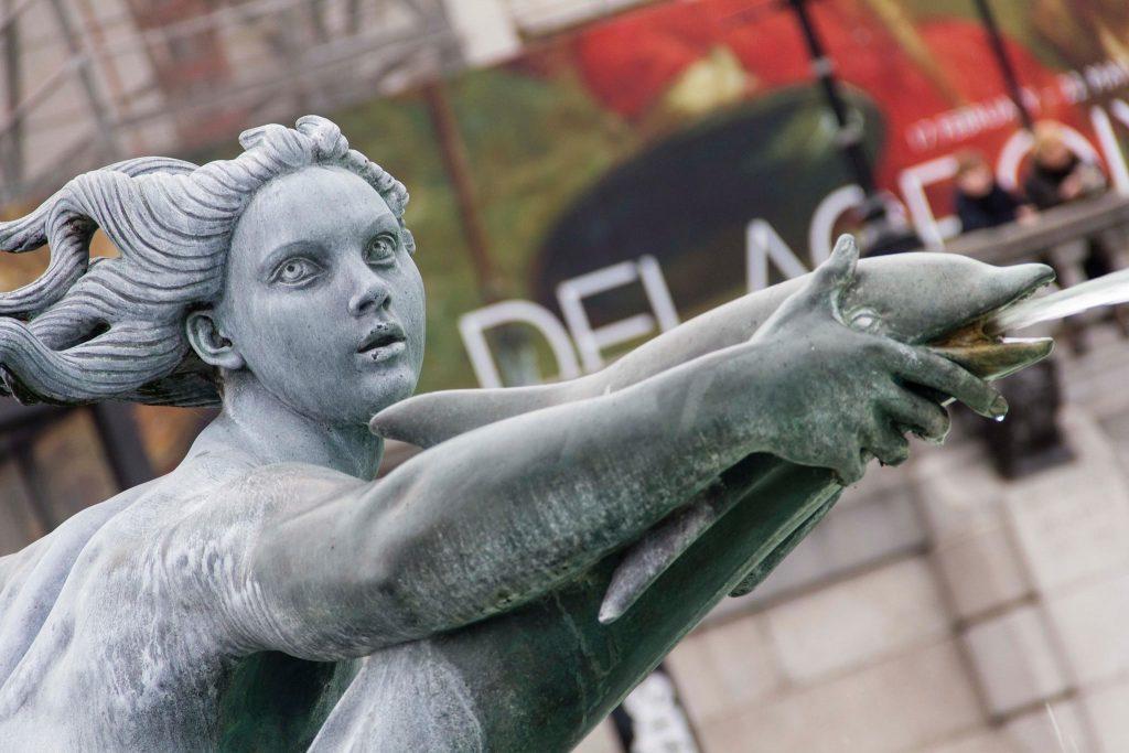 fontaine devant la National Gallery Londres - DR Nicolas Diolez 2016
