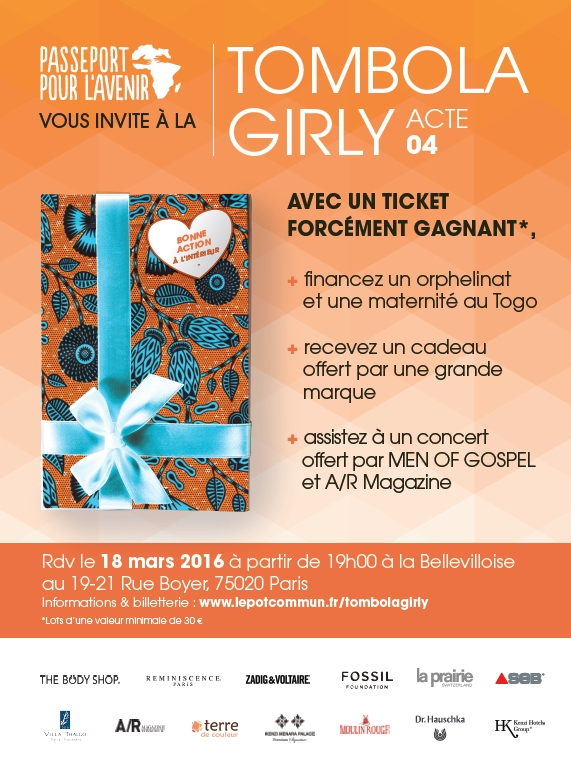 Tombola Girly de l'association Passeport pour l'Avenir 2016