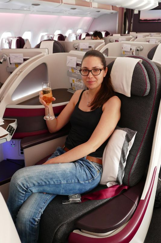 Qatar Airways business class - DR Mathilde Meteye 2016