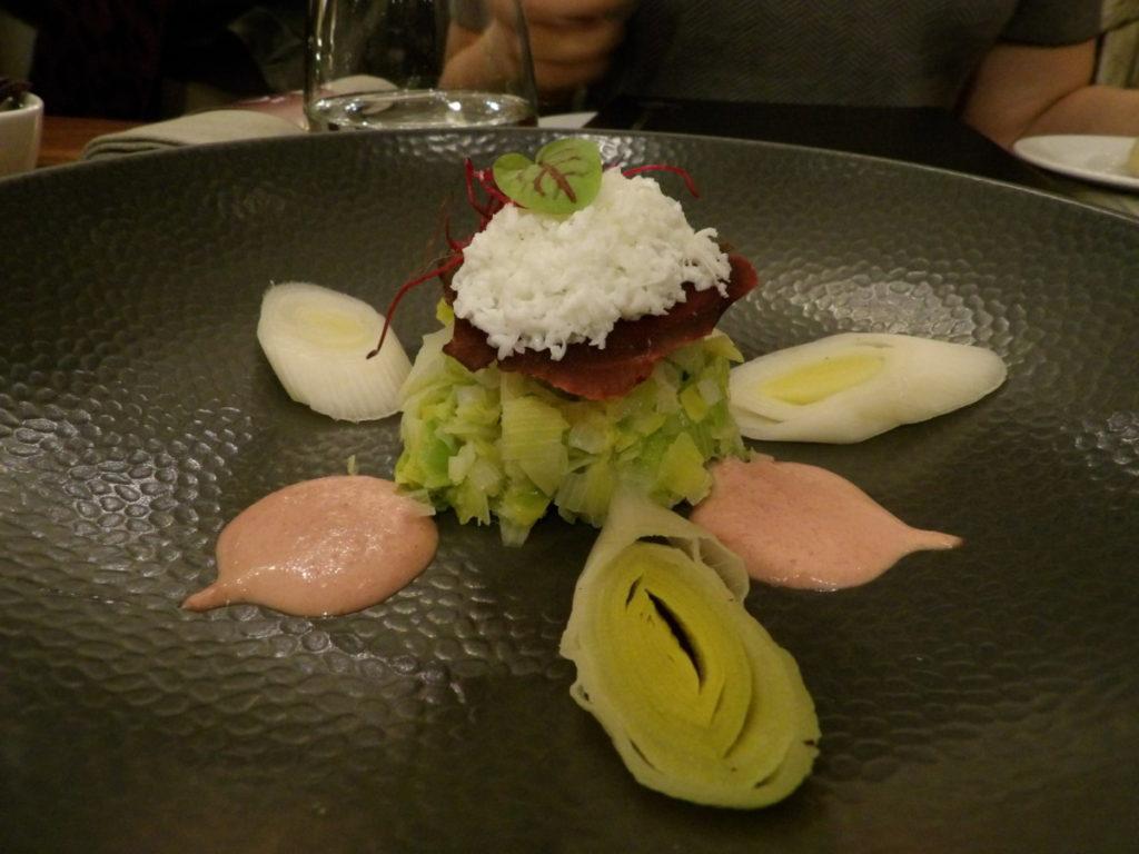 Poireau vinaigrette Restaurant 16 Haussmann Marriott Opera Ambassador