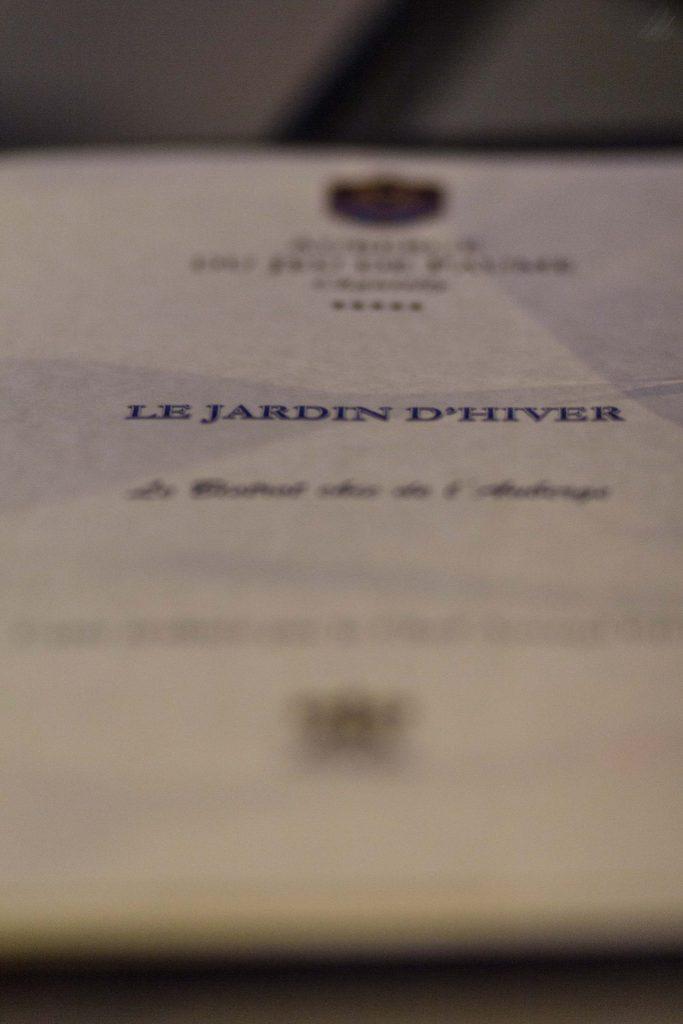Bistrot Chic Le Jardin d'Hiver Auberge du Jeu de Paume Chantilly - DR Nicolas Diolez 2016