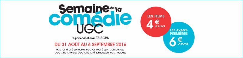 UGC semaine de la comédie 2016