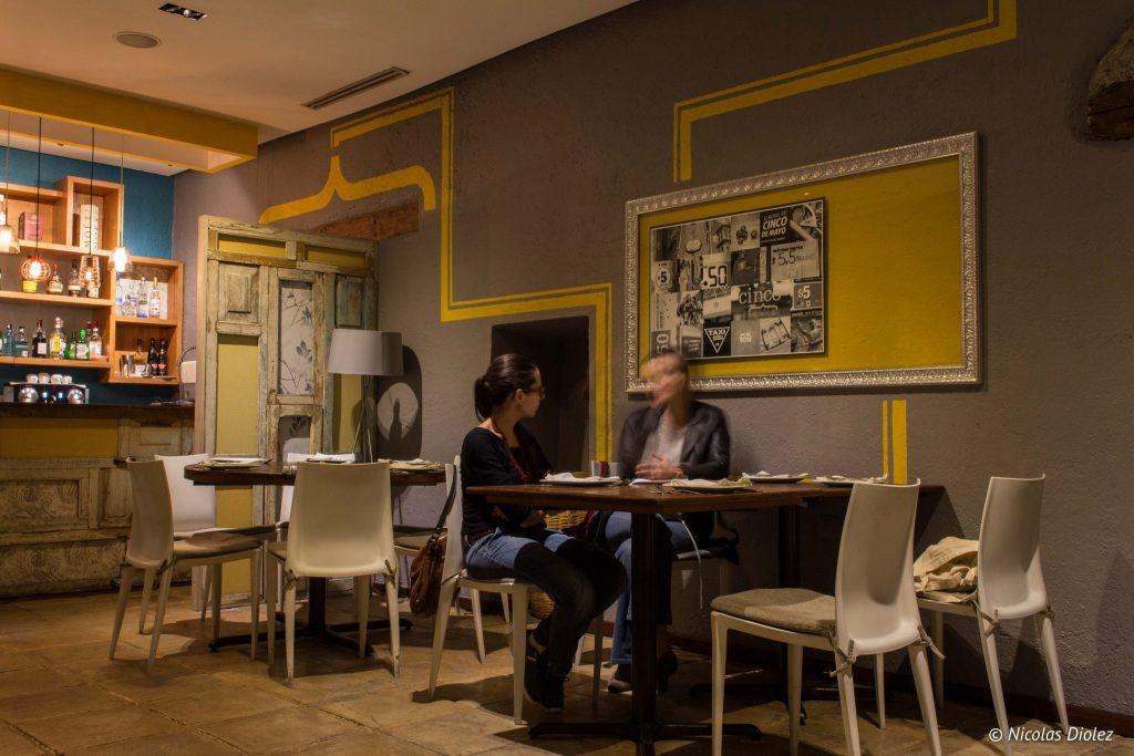 Restaurant Cinco cocina urbana Puebla - DR Nicolas Diolez 2016