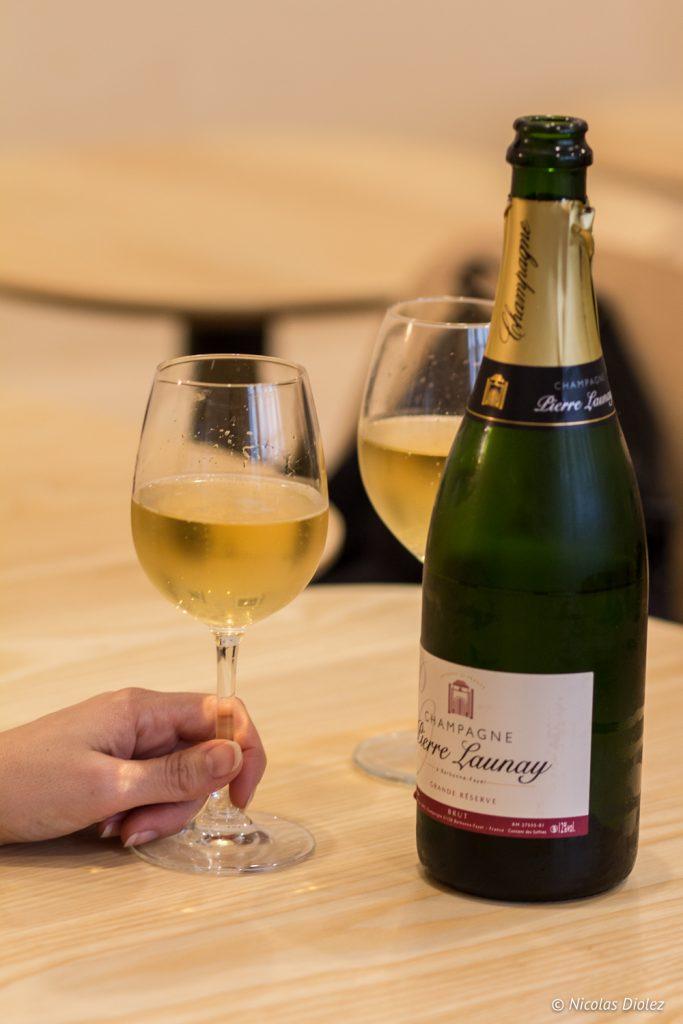 Hana bento de noel et Champagne Launay - DR Nicolas Diolez