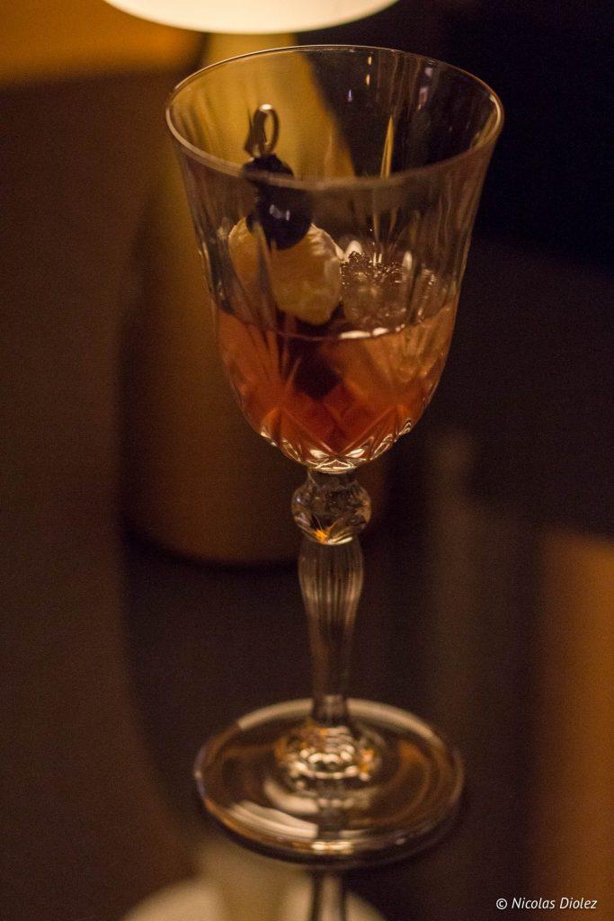 Cocktail petit bar LPB hilton Opéra Paris - DR Nicolas Diolez 2016