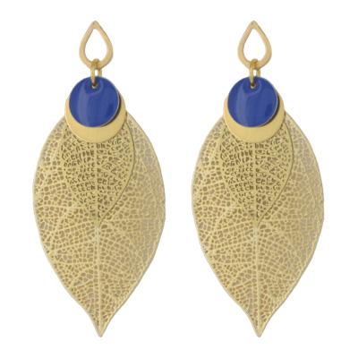 Lily Birds Fab à Bijoux - boucles d'oreilles Nervura Lily Blue