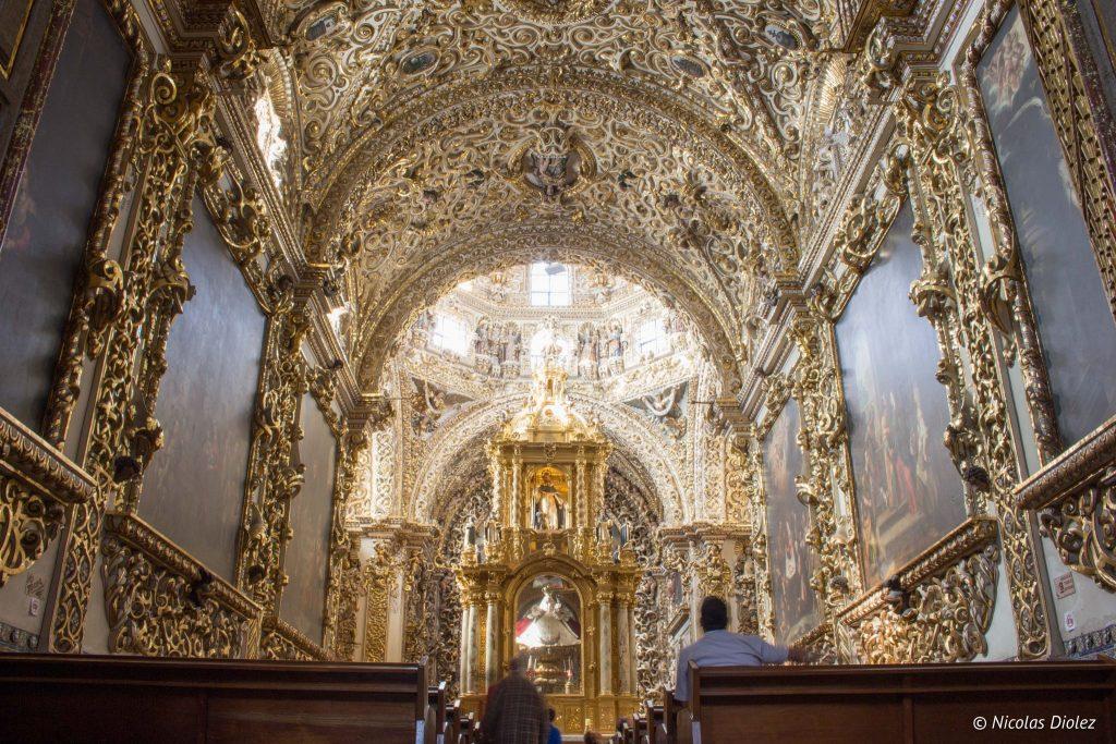 Capilla del Rosario Eglise Santo Domingo Puebla - DR Nicolas Diolez 2016