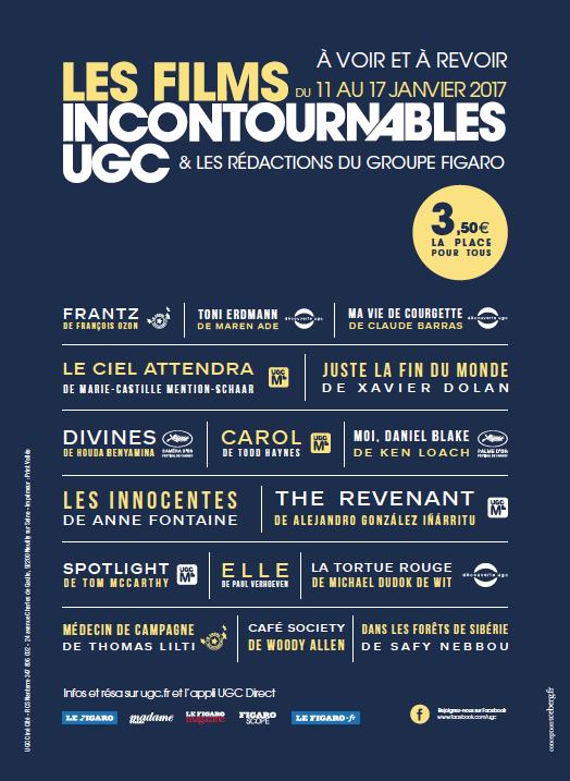UGC Incontournables 2017
