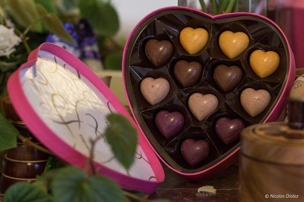 chocolats Leonidas coeurs saintvalentin - DR Nicolas Diolez 2016