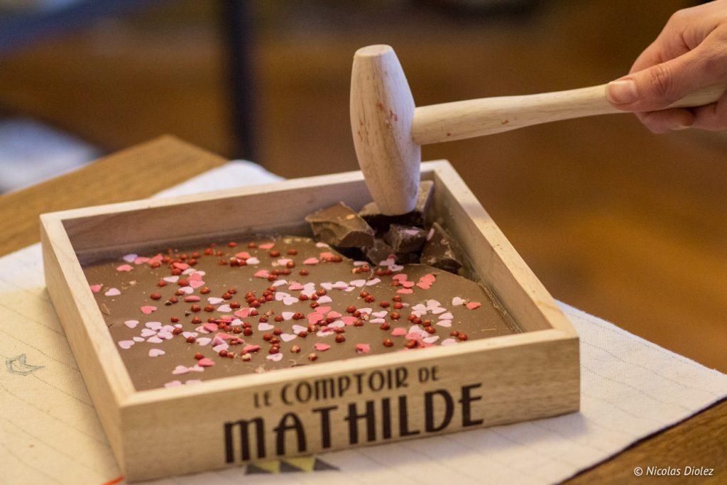 Tablette comptoir de Mathilde - DR Nicolas Diolez 2017