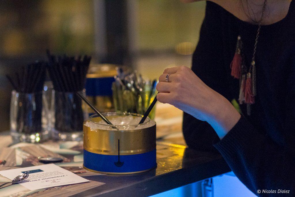 cocktail menu Saint Valentin de la Brasserie Frame - DR Nicolas Diolez 2017