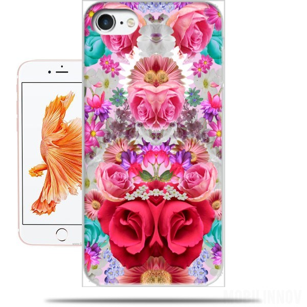 roses-retro-flowers-grey-hardcase-coque unique
