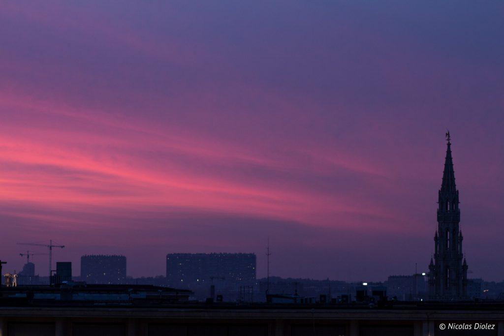 coucher de soleil Bruxelles - DR Nicolas Diolez 2016