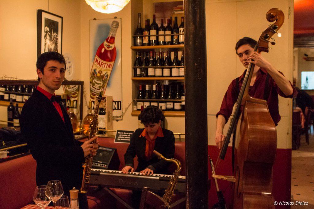 Diximus jazz Restaurant Chez Fernand Paris - DR Nicolas Diolez 2017