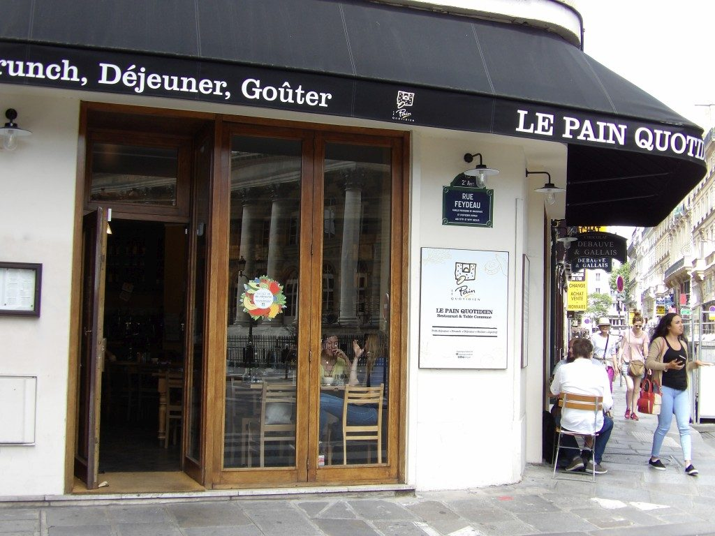 Pain Quotidien Bourse Paris - DR Melle Plan 2017