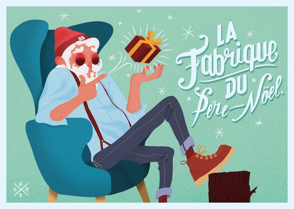 La Fabrique du père-Noel Modèle créé by Pixartprinting