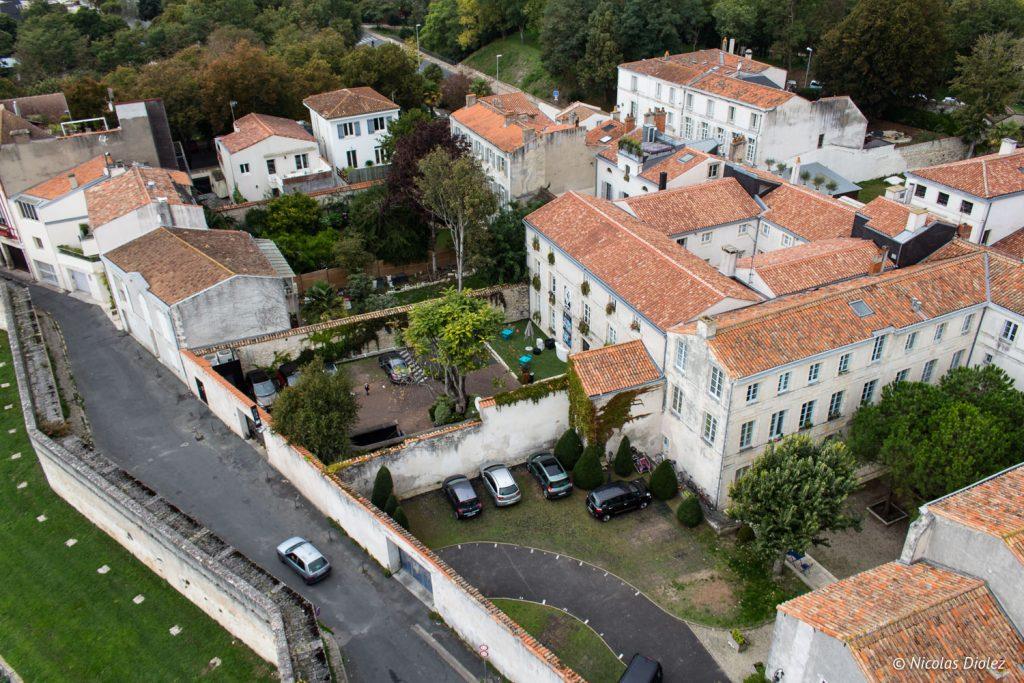 vue du ciel Hôtel La Monnaie La Rochelle - DR Nicolas Diolez 2017