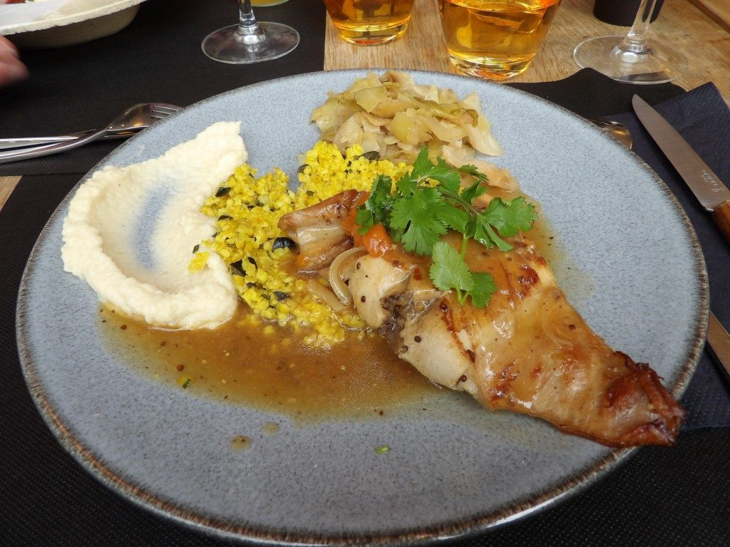 plat lapin restaurant Osé Angers