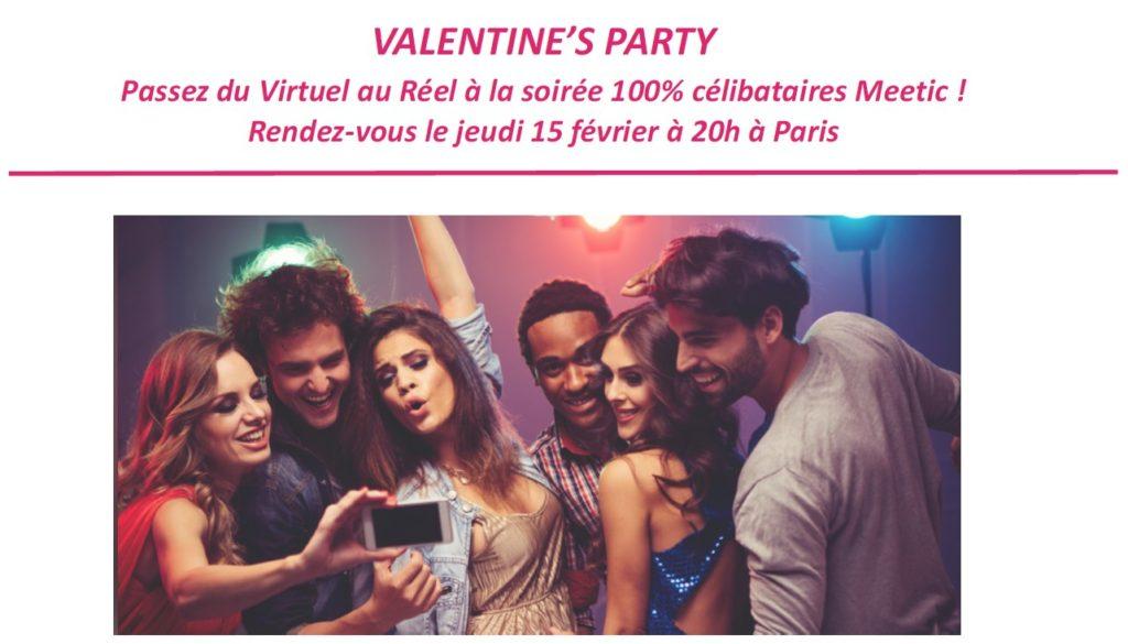 Valentine's Party de Meetic 2018