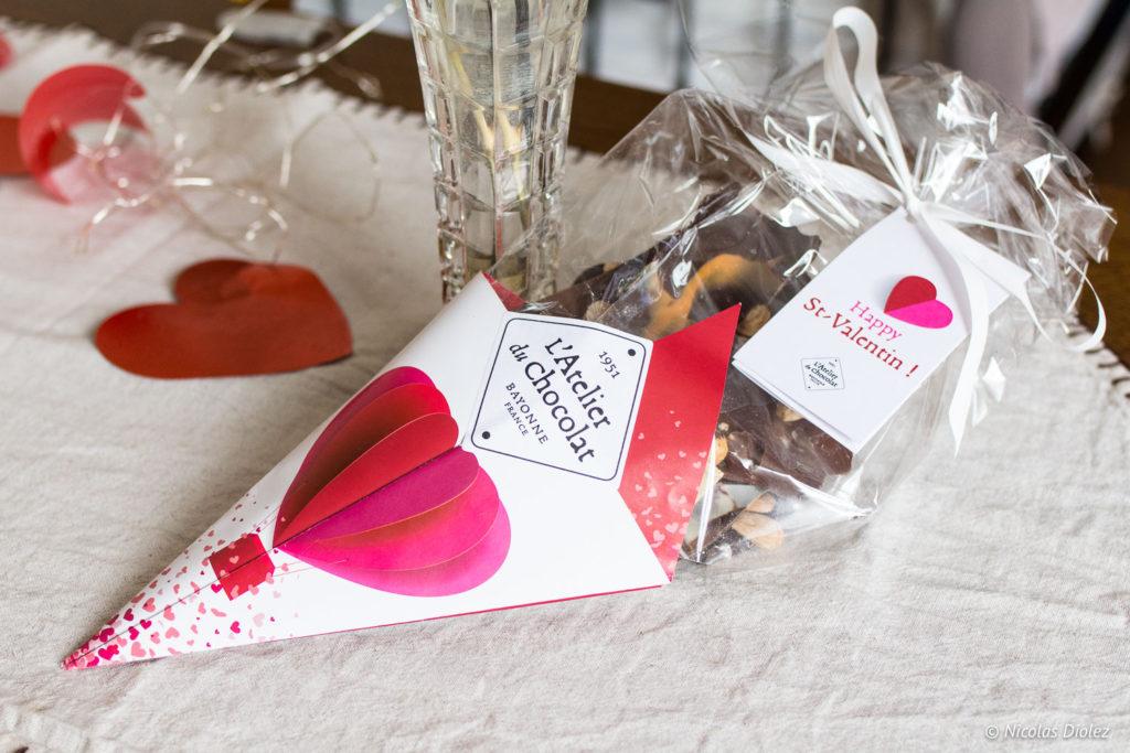 Bouquet de chocolat Saint Valentin L'Atelier du Chocolat