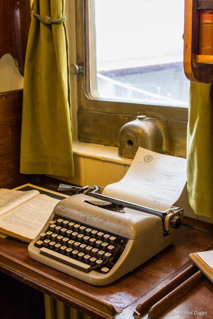 machine à écrire bateau Mercator Ostende Belgique