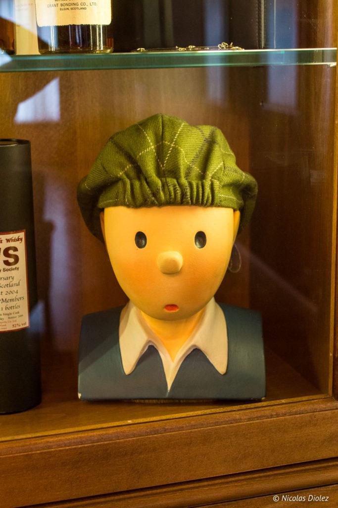 Figurine Tintin hôtel Bero Ostende Belgique